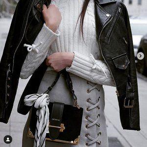 Sheike Grey Suede Mini Stadium Skirt
